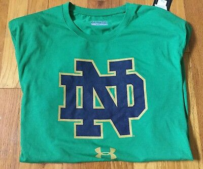 46798fa8 NWT Notre Dame Fighting Irish Under Armour Tech Performance T-Shirt Kelly  Green