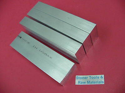 """4 Pieces 1"""" X 2"""" ALUMINUM 6061 FLAT BAR 6"""" long Solid T6511 Plate MILL STOCK"""