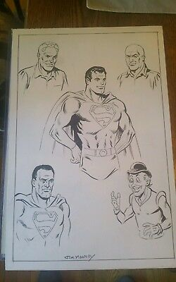 JIm Mooney Original comic art Superman, Luther, Bizzare and  more very nice!