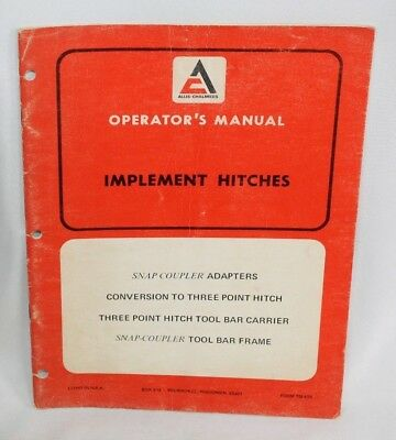 Allis Chalmers Implement Hitches Three 3 Point Operators And Parts
