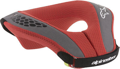 Alpinestars Sequence Youth Kids Neck Roll Support Black Red - Pick Size