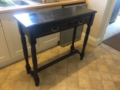 Black painted mahogany display table with two drawers - Very stylish piece