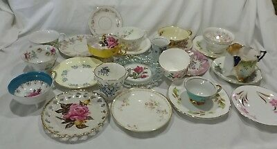 Mixed Lot Vintage Tea Cups Saucers 24 pieces Germany Japan France others
