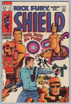Nick Fury Agent of SHIELD 12 May 1969 VG+ (4.5)
