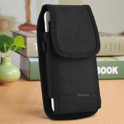 BLACK CANVAS CASE Pouch Holster with Belt Clip for QLink ZTE