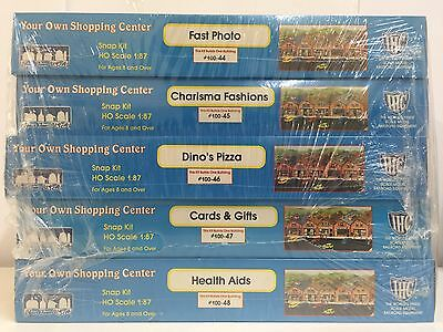 IHC, Your Own Shopping Center, HO SCALE 1:87, PLASTIC MODEL KITS, #100-44 to 48