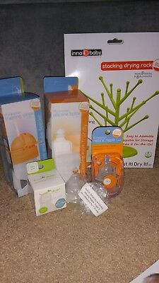 Inno Baby Gift Set, Drying Rack, Transition Bottle and Straw, and More NEW