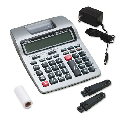 Desk Calculator Adding Machine Printing 12 Digit LCD Display Electric or Battery