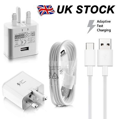 GENUINE FAST CHARGER PLUG & CABLE FOR SAMSUNG GALAXY S8 S8+ PLUS Note 8 A5 & S9