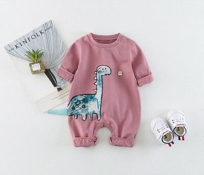 D145 Pink Pattern Newborn Kid Baby Rompers Bodysuit Jumpsuit Outfits Costume Z
