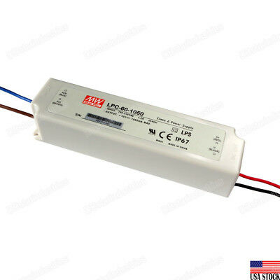 MEAN WELL LPC-60-1050 60W Switching Power Supply LED Driver 9V-48V/DC 1050mA