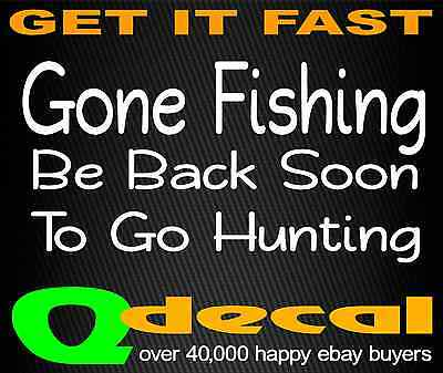 Gone FISHING hunting ute Car 4x4 boat Sticker Decal 200mm camping hiking outdoor