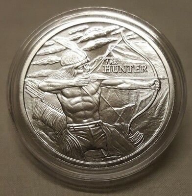 2017 1 oz Silver The American Indian Hunter / Buffalo .999 Fine Silver Round