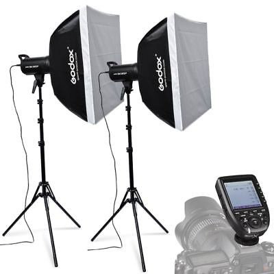 2X Godox SK300II 300W 2.4G Flash Strobe Light Stand Trigger Kit for Canon 220V