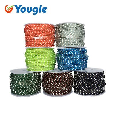 50 Meters 2.5mm 3 Strands Cores Reflective Paracord Parachute Cord Lanyard Rope