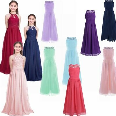 Girl Kid Flower Bridesmaid Party Princess Prom Wedding Christening Dress UK