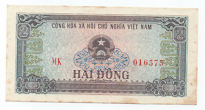 NORTH VIETNAM 2 Dong  ND1980 VF+ HISTORICAL NOTE! SCARCE!!
