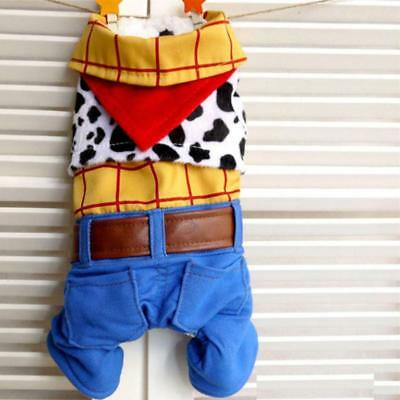 Cowboy Woody Dog Fancy Dress Costume Outfit