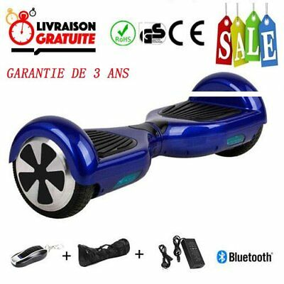 """Hoverboard 6.5"""" overboard Bluetooth + Sac + Télécommande + APP 4 couleurs"""