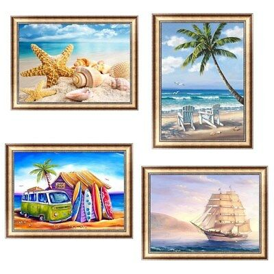 unframed Beach View 5D Diamond Painting DIY Embroidery Cross Stitch Home Decor