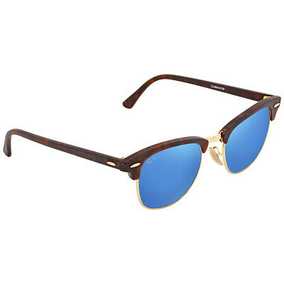 4c9f6c2b13e RAY BAN CLUBMASTER Blue Flash Square Sunglasses RB3016 14517E 49 ...