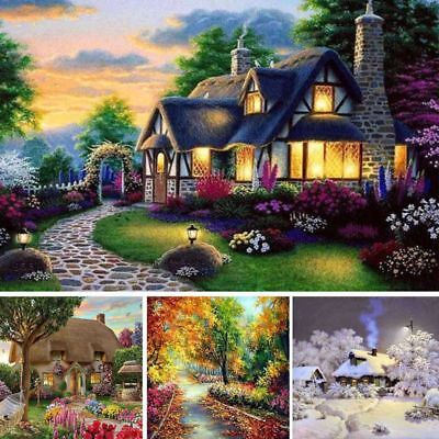5D Diamond Painting Embroidery Landscape Cottage Cross Crafts Stitch Art DIY Kit