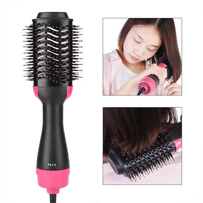 Anion Infrared Hair Dryer Brush Hair Blow Comb Curling Straightening Styling GL