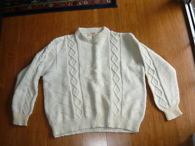 Vintage Cable Knit Jumper ~ Noreen Strautins Chunky Oversized Jumper Size M-L