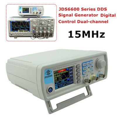 JDS-6600 15MHz Dual-channel DDS Function Waveform Signal Generator Counter CE