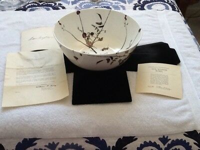 Royal Doulton Andrew Wyeth Bowl Crabapple Tree Design Limited Edition With Paper