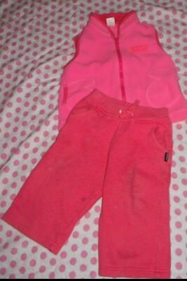 Bonds SIZE 0 pink Trackpants and Thick Vest baby girl