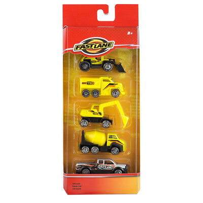 Fast Lane Construction Vehicles - 5 Pack