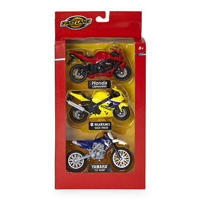 Fast Lane 1:18 Scale Motorcycles 3 Pack - Assorted