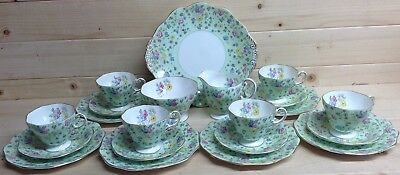 Foley China Chintz and Floral 21 Piece Tea Set