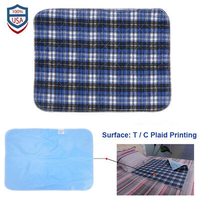 6Pcs Reusable Washable Underpad Waterproof Bed Pad for Children Adults 45 x 60cm