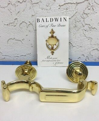 Unused Vintage Baldwin Polished Solid Brass S Shaped Door Knocker 0113.030