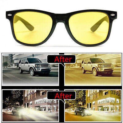Women Men Driving HD Night Vision Glasses Yellow Lens UV400 Aviator Sunglasses