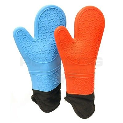 Heat Resistant Silicone Kitchen OVEN GLOVES for Cooking, Baking, BBQ, Pot Holder