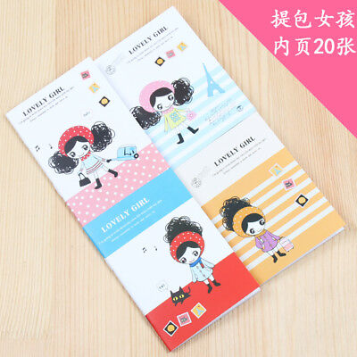 4pk Cute Little Girls Mini Notebooks Lined Small Notepads Pocket Memo Pads
