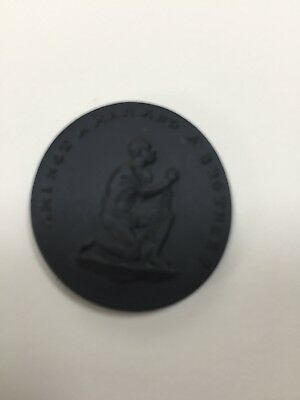 Wedgwood Anti Slavery Jasper Medallion. Am I Not A Man And A Brother?