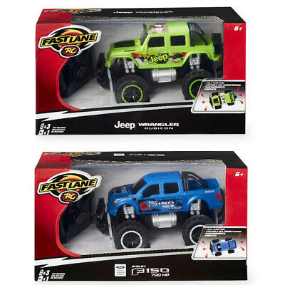 Fast Lane 1:24 Remote Control Monster Wheels Truck - Assorted