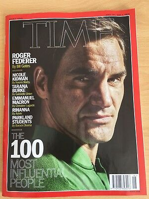 TIME MAGAZINE 2018 The Hundred Most Influential People Roger Federer April 2018