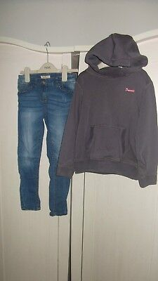next girls hooded dreaming jumper & next skinny jeans size 7 6 - 7 years