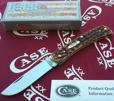CA00245 Case Cutlery Sod Buster Jr Peach Seed Stainless Blade Bone Handle USA