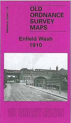 OLD ORDNANCE SURVEY MAP Enfield Wash 1910: Middlesex Sheet 02.16