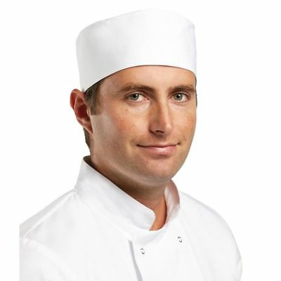 Whites Chefs Unisex Cap Professional Kitchen Cooks Catering Hat Elasticated