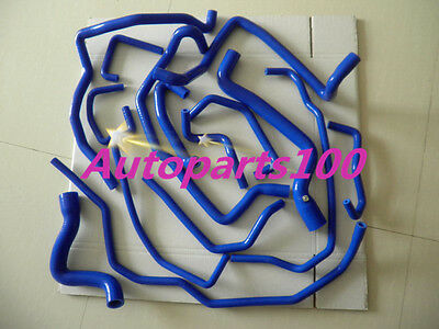 15PCS silicone water/coolant hose Renault 5/R5 GT turbo 1988-1991 1989 1990 BLUE