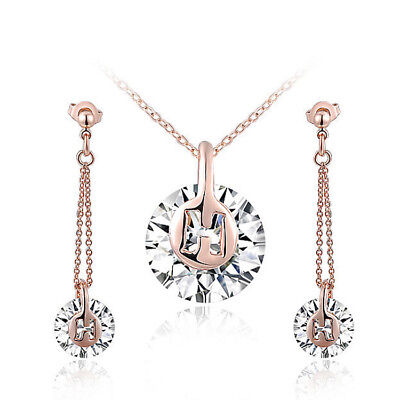18K Rose Gold Plated  earring necklace Set fashion Jewelry S10