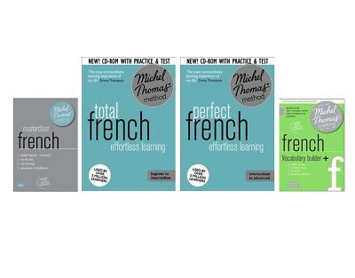 Michel Thomas Total French, Perfect, Masterclass and Vocabulary+ All 4 courses.