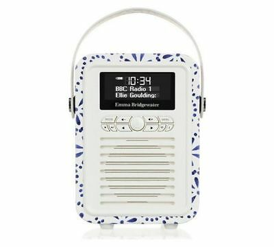 VQ Retro Mini Emma Bridgewater Blue Daisy DAB/DAB+/FM Alarm Bluetooth Radio